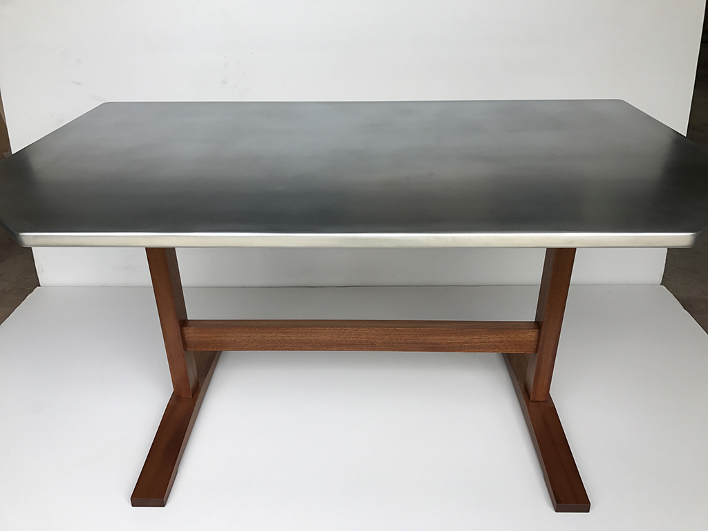 Brooklyn Fabrication Furniture Zinc Table